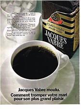 PUBLICITE  1969   JACQUES VABRE  café moulu