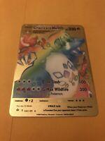 Charizard Pokemon VMAX Rainbow Gold Custom Metal Card Champions Path 074/073