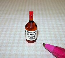 Miniature Single Liquor Bottle For the DOLLHOUSE Bar #23, 1/12 Scale Miniatures