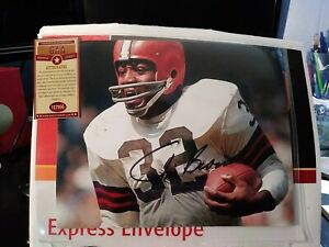 Jim Brown Cleveland Browns Signed 8x10 Photo Autographed GA COA