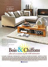 PUBLICITE ADVERTISING 114  2008  BOIS & CHIFFONS  canapés
