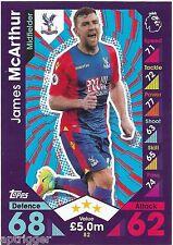 2016 / 2017 EPL Match Attax Base Card (82) James McARTHUR Crystal Palace