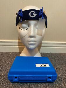 #374Gehmann Headband w/ 37mm swivel lens holder & 30mm Frost Eyeshield ISSF