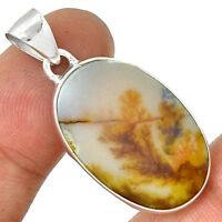 Famous Shazar Stone,Dendritic Agate 925 Sterling Silver Pendant Jewelry PP191884