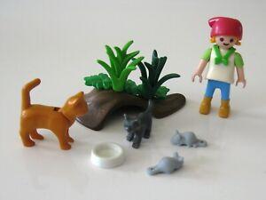 PLAYMOBIL 4493 Katzenfamilie - Katzen, Figur, Utensilien - Bauernhof