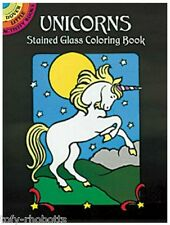 Coloring Book For Adult Children Unicorns Stained Glass Young Artists Gift Craft