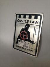 """Neu Aluminium Warnschild """"Castle Law"""" selten zu bekommen (nur noch 1x vorhanden)"""