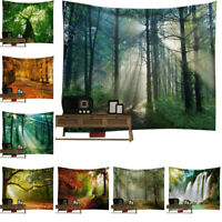 Plant Scenery Tapestry Wall Hanging Background Nature Printed Blanket Home Decor