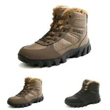 Mens Winter Outdoor Hiking Sneakers Boots Shoes Fur Inside Warm Climbing Flats L
