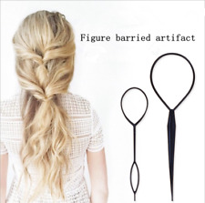 1 sets Ponytail Creator Plastic Loop Styling Tools Black Topsy Pony Hair Braid