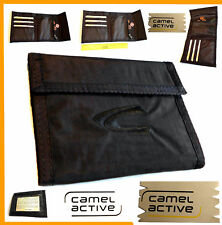 Herrenbörse Camel Herrengeldbörse Geldbörse Stoff Börse Geldbeutel braun NEU ---