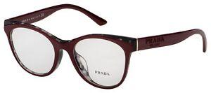 Prada Eyeglasses PR 05WVF 07H1O1 53 Bordeaux/Grey Frame [53-19-140]
