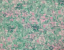"Lilly Pulitzer Cotton Poplin Fabric Colorful Camelflage 1YD 36"" X 57"""