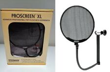 "NEW Stedman Proscreen XL Microphone Pop Filter w/ 13"" Flexible Gooseneck"