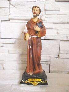 Heiliger Franziskus Ordensbruder 30 cm Religion Kirche Figur Skulptur !!