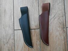 Leather one piece sheath for hunting, 'woodlore' style knives or Moras