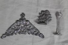 3 Zinn Teile - Baum + Laterne + Engel bzw. Putten - sakral + altes Spielzeug 305