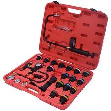 27Pcs Radiator Pressure Tester Vacuum-Type Cooling System Refill Kit W/Case New