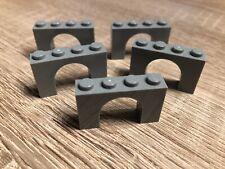 4x LEGO arco pietra marrone scuro 1x5x4 Castello CANCELLO Castle 4518606 76768u 2339u