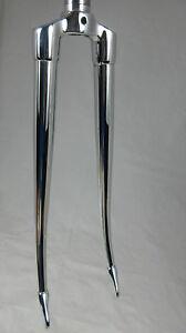 """Vintage ALAN Aluminium/steel 1"""" threaded forks, 700c, 125mm, VGC"""