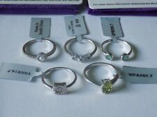 5 Sterling Silver Gemporia Gems TV Rings. NEW with TAGS Inc Emerald, Diamond ETC