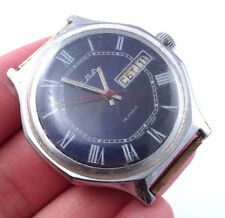 Vintage soviet SLAVA watch Classic white dial Uncommon octagonal case*IN US*#349