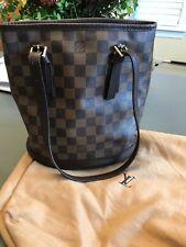 Louis Vuitton Damier Ebene Canvas Marais Bucket Bag - Good Condition, US Seller