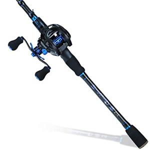 Sougayilang Baitcaster Combo Fishing Rod and Reel Combo, Ultra Light Baitcasting