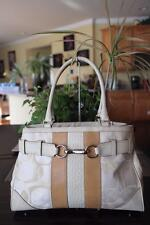 COACH F13338 Hamptons Optic Signature White/Ivory Carryall Tote (p400