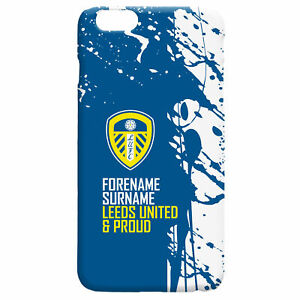 PERSONALISED Leeds United FC Gifts - Proud Hard Back Phone Case - Official