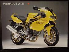 Ducati  Prospekt 750 SS Supersport Prospetto Brochure