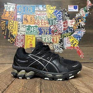 Asics Gel-Kayano 16 IGS Black Silver  Running Shoes T050N Women's 7