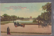 Vintage Garfield Park Chicago Car and Horse   #D13