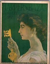 Harper's Bazaar January 1907 Fashion Magazine