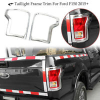 For Ford F150 Truck Chrome Taillight Tail Light Trim Bezel Cover Pair 15-17