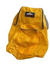 "New listing Jan Sport Nylon Yellow Daypack/Backpack Front Pocket 14"""