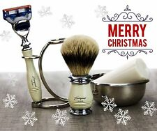 Ivory Color 5 Pieces Men's Shaving Set. Perfect Gift This Christmas For HIM