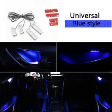 4X Blue Auto Car Door Bowl Handle LED Ambient Atmosphere Light Interior