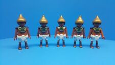 Playmobil Egyptian soldiers no weapons mint conditions collectors 117