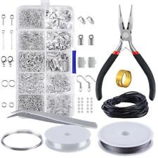 Jewelry Making Supplies Findings Starter Pliers Beading Kit Set Accessories Tool