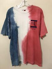 Men's Size L Vintage Tommy Hilfiger Marathon Tie-Dye T-Shirt 2000 USA Flag