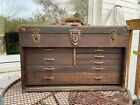 Antique+Union+Tool+Chest+Company+Machinist+7+Drawer+Wooden+Vintage+Oak+Tool+Box
