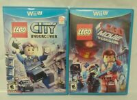 Lego City + Lego Movie Game --  Nintendo Wii U 2 Game Lot Tested + Complete