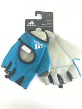 Blue Adidas Women's Essential Training CrossFit Gym Gloves Large Climalite New