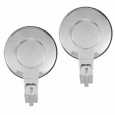 Everloc Solutions Chrome Suction Cup Hook (2 Pack), Large