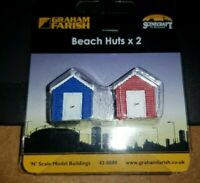 N Gauge Graham Farish 42-0080 Scenecraft Beach Huts 2pcs (Pre-Built)