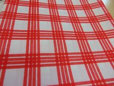 Wipe clean finish white / red table cloth 140 cm x 180 cm
