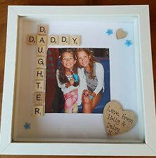 Personalised Photo Picture Box Frame - Dad Daddy Daughter Fathers day Birthday