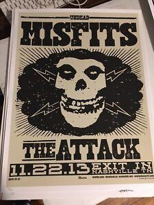 Misfits Limited Edition Nashville Exit In Gig poster Martin EngineHouse13