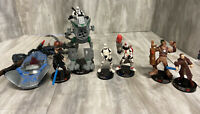 Star Wars Hasbro Lot of 6 Attacktix Battle Game Action Figures '05 READ